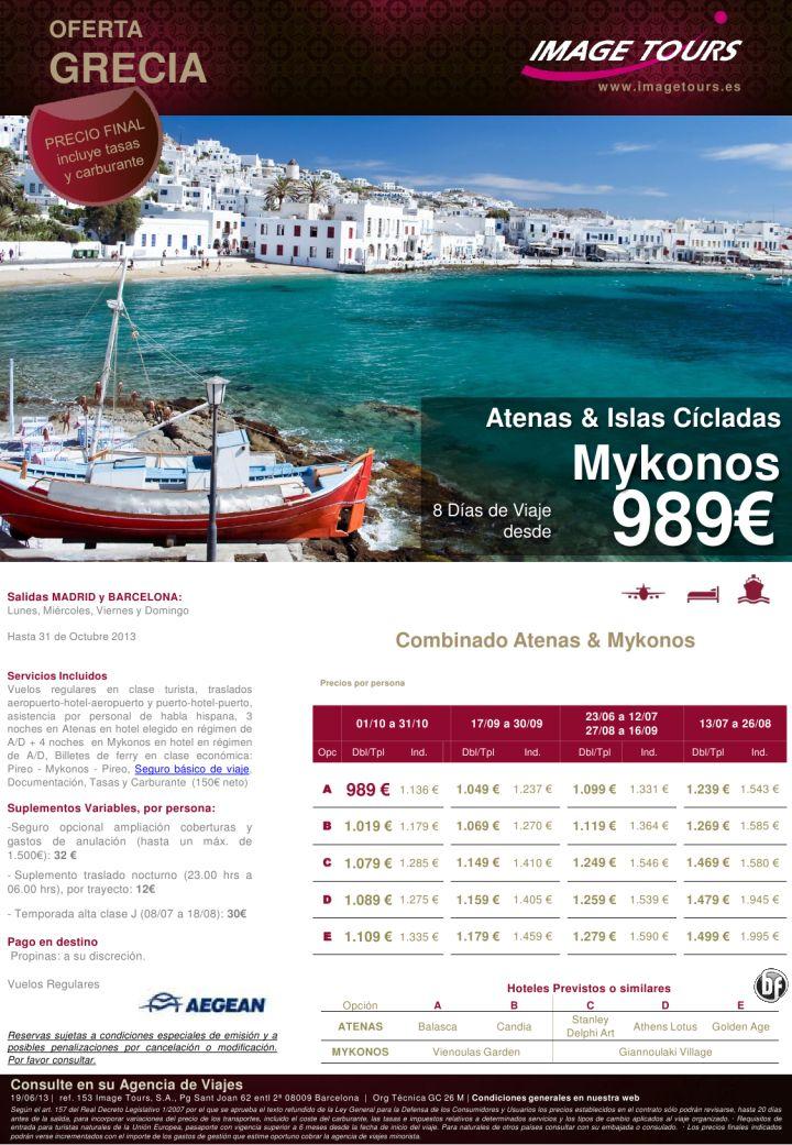GRECIA: Atenas y Mykonos, vuelos directos y estancia 8 días, desde 989€ precio final - http://zocotours.com/grecia-atenas-y-mykonos-vuelos-directos-y-estancia-8-dias-desde-989e-precio-final/