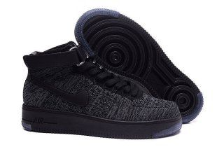 41ce98961873 Nike Air Force 1 Ultra Flyknit Mid Dark Grey Black 817420 001 Mens Womens  Sneakers