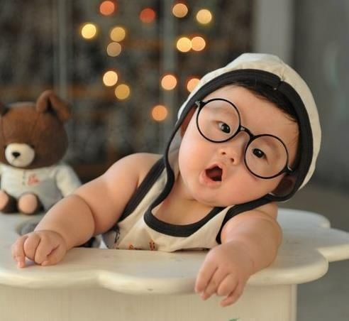 Image result for baby with glasses on