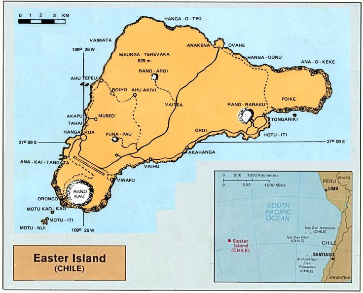 Best Easter Island Chile Images On Pinterest Easter Island - Easter island map