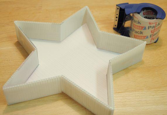 Gussform für Beton aus Hohlkammerplatte (Baumarkt)!!!
