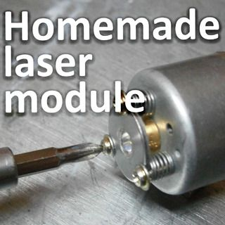 DIY focusing LASER  laser module using DVD burner lens and LASER diode. Not overly high tech, but useful. Do not look into beam with remaining good eye and ALL other standard LASER warnings apply. Instructables.