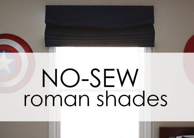 How To Make Inexpensive No Sew Roman Shades The Shade