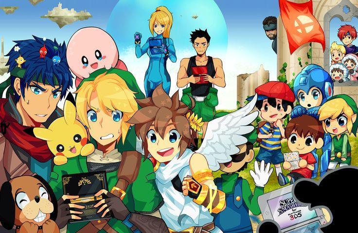 Super Smash Bros. by Pixiv Id 9006674 http://www.zerochan.net/Pixiv+Id+9006674