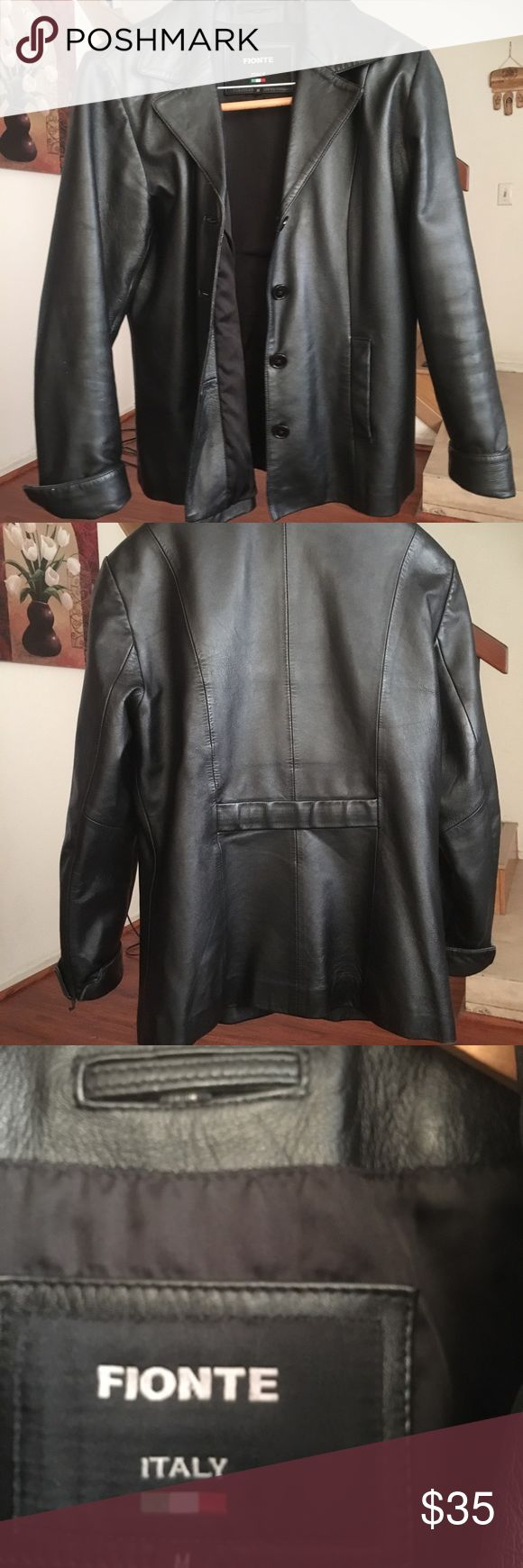 Italian leather jacket, in excellent condition! Beautiful leather jacket from Italy! Looks new and in excellent condition! Fionte Jackets & Coats