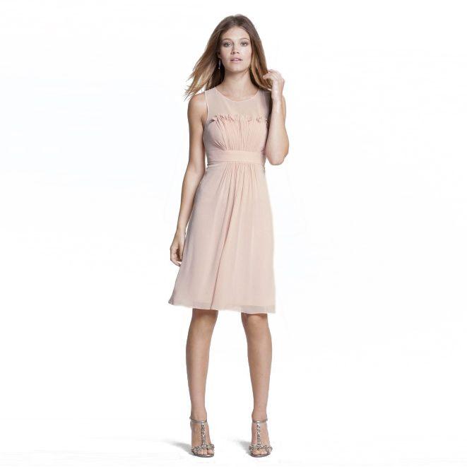 ジュレップ・フロントプリーツドレス。ガーデンに映えるピンクのブライズメイドドレス。  #Bridesmaid #Dress #Pink #Wedding