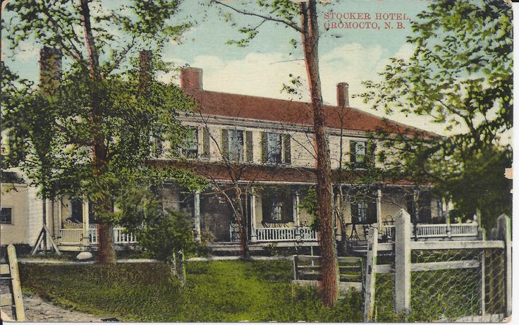 Stocker Hotel, Oromocto, N.B: Amelia's cards were graciously donated to the museum by her granddaughter, Sylvie Duquette of Lacolle, Québec. They were sent our way because of their historical link of Oromocto.   These records can be viewed at the New Brunswick Provincial Archives. They are catalogued in the York Sunbury Historical Society Collection (MC300-MS126). The correspondences on the back of the postcards have been posted on the Fredericton Region Museum Facebook page.