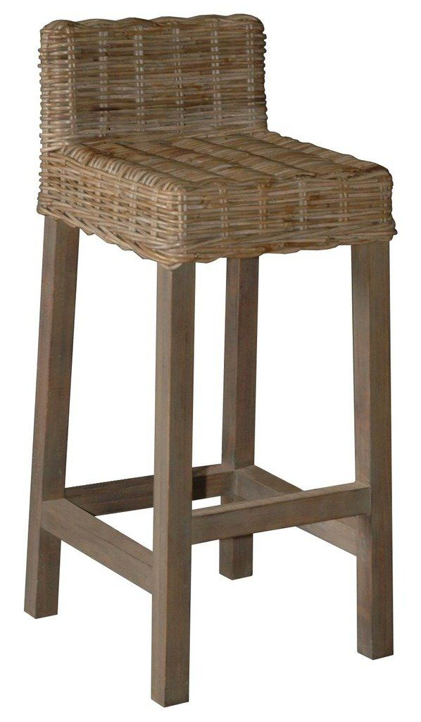 Wicker Barstool with Low back