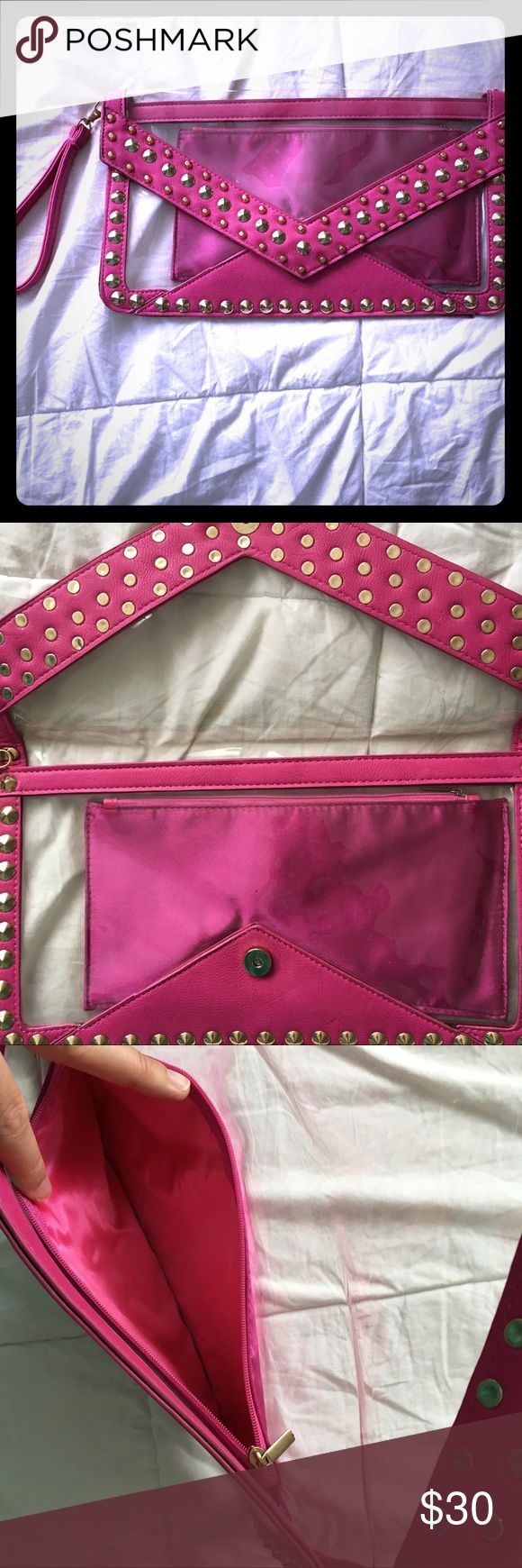 PINK waterproof purse 💕👙 Hot pink 💕👙🎀pool purse bought for miami & Vegas pool parties 🎉 I never used it ! New without tags !!! I literally forgot to pack this & it was found in my purse box 😫Ready for your pool or beach party ! 🎀💕💖👙 Accessories Phone Cases