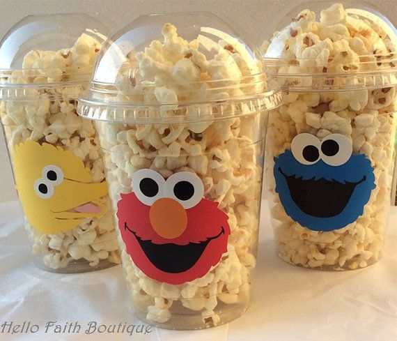 Set of 5  Elmo PopCorn Box Elmo Favor Bags Elmo by HelloFaith, $7.50