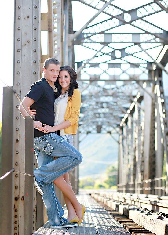 this couple did some poses that I haven't seen over and over or ever before, some good ideas for engagement pics