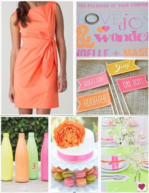 A Neon Wedding Inspiration Board