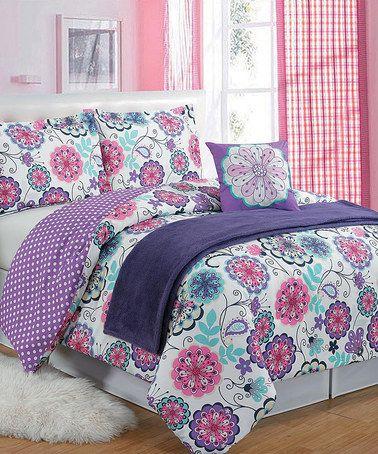 Purple Daniella Five Piece Comforter Set  zulilyfinds. 525 best Comforters Duvets Quilts images on Pinterest   Bedding