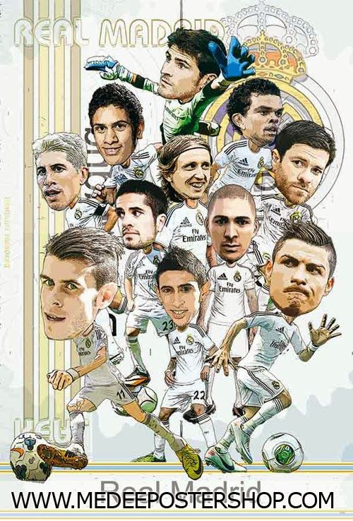 Real Madrid Cartoon Wallpaper