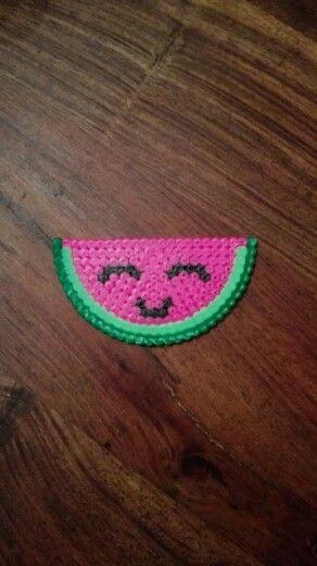 Watermeloen van strijkkralen ☺