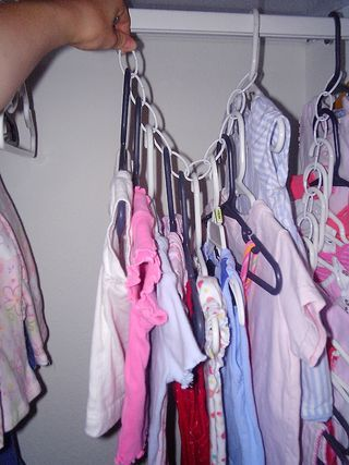 Chain to save closet space