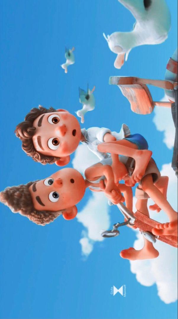 Luca And Alberto Wallpaper In 2021 Disney Cartoon Movies Disney Wallpaper Pixar Poster