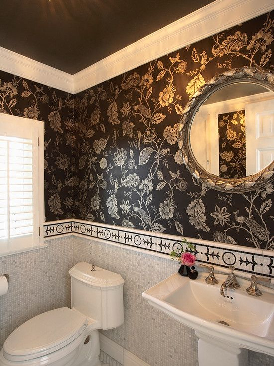 Paisley wallpaper design pictures remodel decor and for Bathroom decorating ideas wallpaper