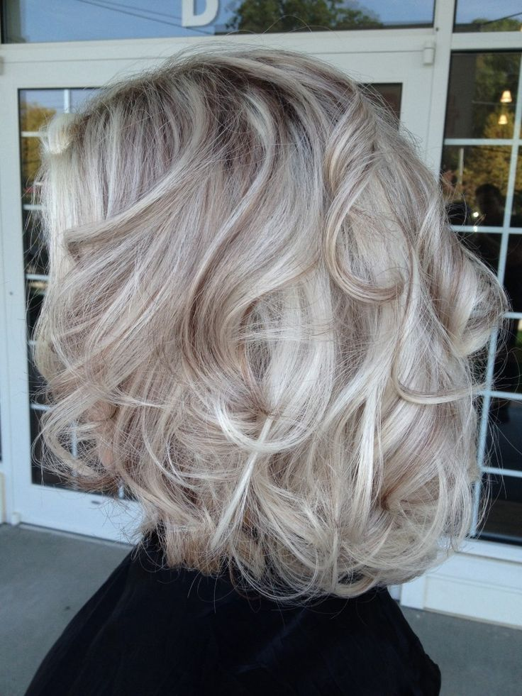 Platinum hair with brown lowlights google search hair for Color gray or grey