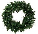 Bethlehem Lights 36 Wreath with Glistening Lights — QVC.com