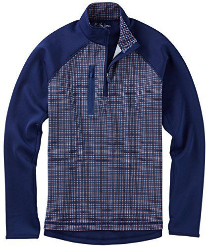 Designed with precision and imagination, you'll find more places than just the golf course to wear the quarter-zip stretch performance pullover. Grid print front. Vertical zippered chest pocket. Rib knit bottom. 92% polyester, 8% spandex. Machine wash....  More details at https://jackets-lovers.bestselleroutlets.com/mens-jackets-coats/lightweight-jackets/golf-jackets/product-review-for-bobby-jones-mens-xh20-performance-grid-print-pullover-golf-jacket/