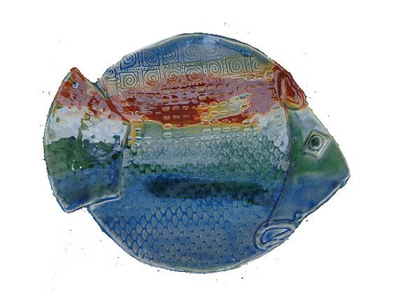 Ceramic Fish Plate/Fish Tray/Pottery by ExpressiveClayArt on Etsy  sc 1 st  Pinterest & 15 best Fish - Ceramc Fish Plates Platter Wall hangings images on ...