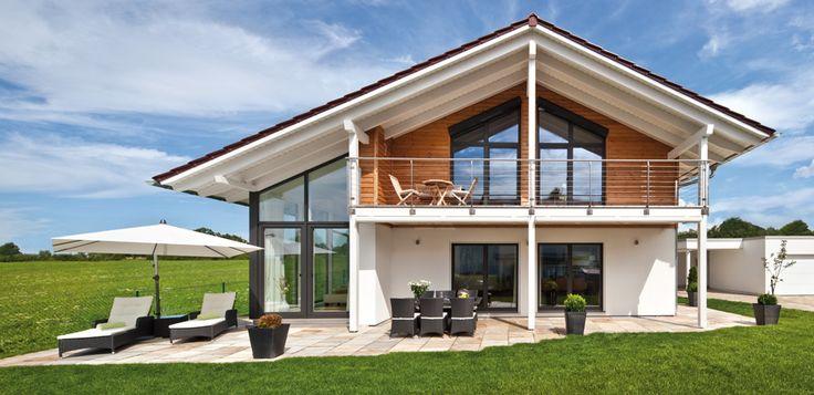 Hausbau im Landhaustil - 5 perfekte Eindrücke vom Regnauer Vitalhaus | Fertighaus, Fertighäuser und Holzhäuser
