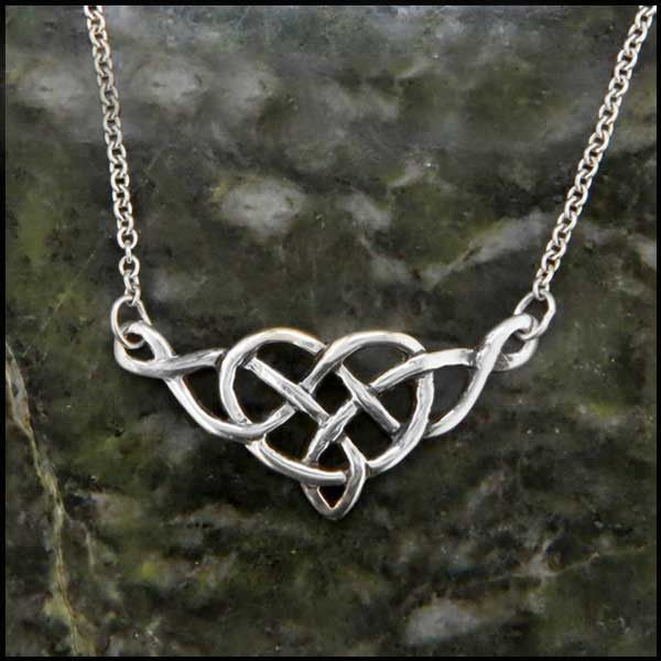 Heart Knot Necklace Sterling Silver SW3205