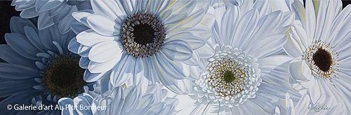 Mickie Acierno, 'Daydreaming', 12'' x 36'' | Galerie d'art - Au P'tit Bonheur - Art Gallery