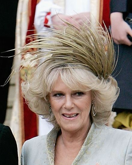 Philip Treacy  Hat for Camilla Parker-Bowles on her Wedding Day to Prince  Charles e9bd943a6d10