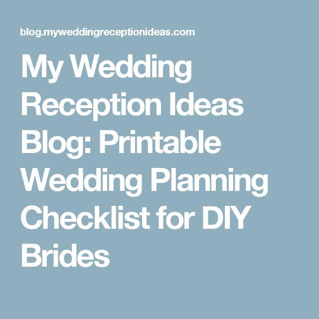 1000+ ideas about Reception Checklist on Pinterest | Wedding ...