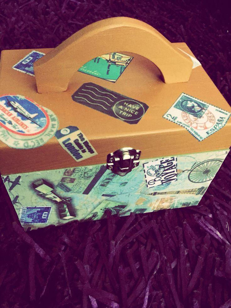 Wedding rings box_caixa alianças_travel theme