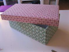 Forrar cajas con tela. Gran idea!