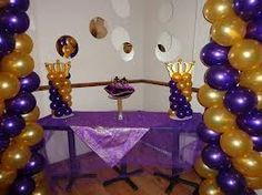 backyard graduation party ideas in purple and gold - Google Search