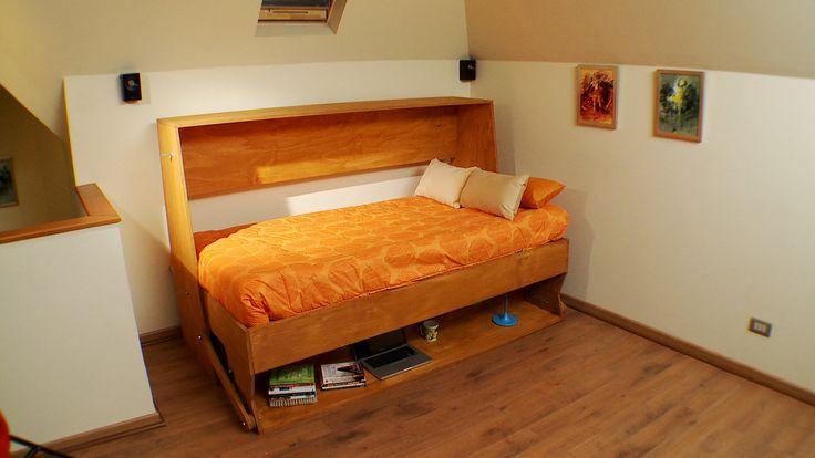En este proyecto vamos a hacer un mueble para aprovechar muy bien el espacio, se trata de un escritorio con cama. Se puede poner en la sala de estar o en el escritorio para tener una cama extra para los alojados, o sencillamente en la pieza de un niño.