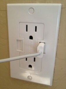 USB Outlet:   http://appadvice.com/appnn/2012/04/make-your-home-21st-century-friendly-with-newertechs-power2u-acusb-outlet
