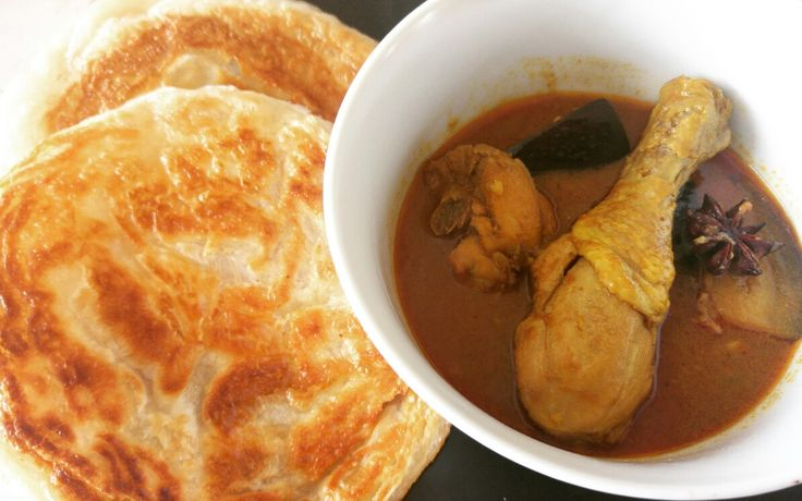 Pittige indiase kip curry met roti