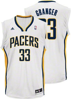 Indiana Pacers Danny Granger 33 White Authentic Jersey Sale