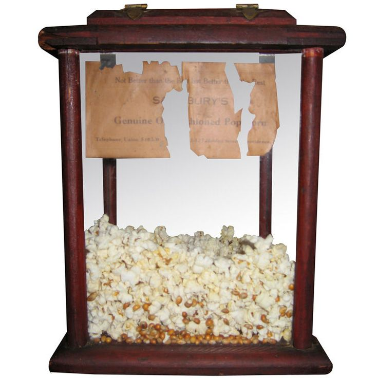 Vintage Popcorn Container ~ the last thing I'd keep in this is popcorn