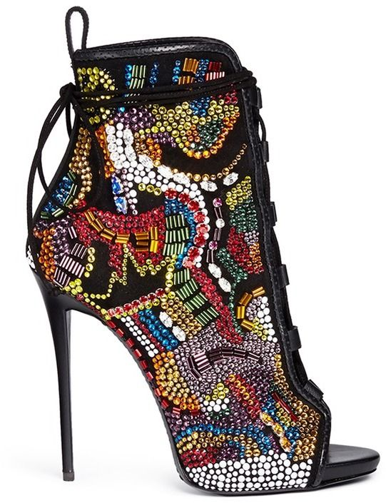 Giuseppe Zanotti DESIGN 'Coline' bohemian strass suede boots on shopstyle.com