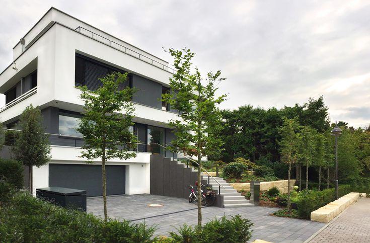 Modernes Einfamilienhaus Rhein-Main Neubau Luxury houses, Arch - geometrische formen farben modernes haus