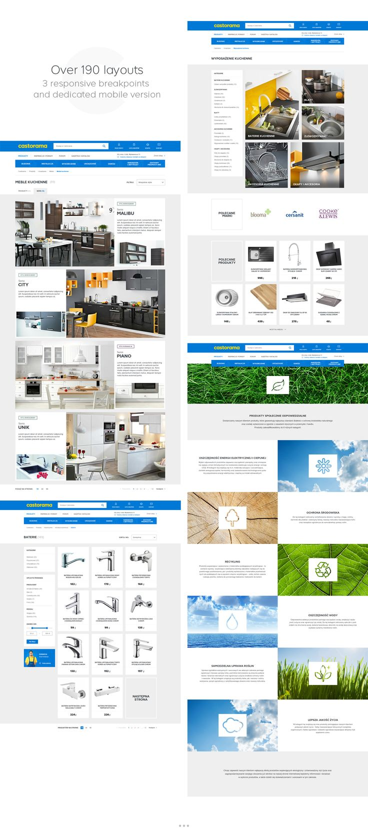Castorama is the biggest home improvement chain store in Poland (79 locations). Redesign of castorama.pl included both functional and technical aspects, but also a visual change. We were responsible for visual design and parts of user experience design.