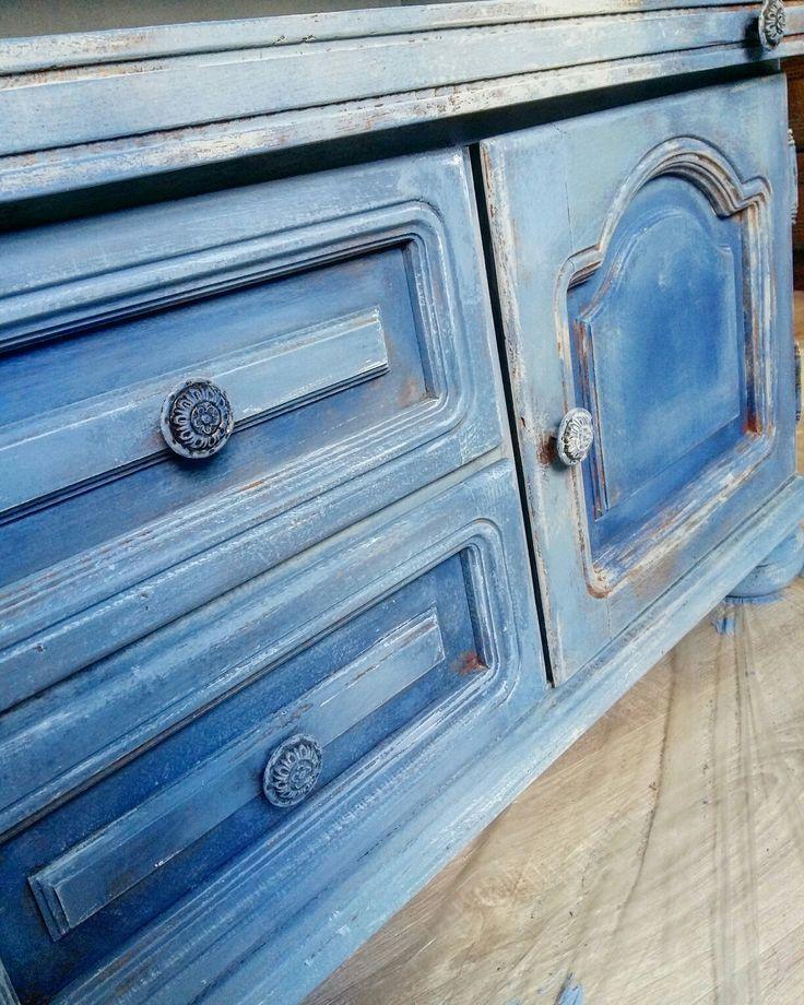 Greek blue & Pure & Paris Grey Annie Sloan Chalk Paint