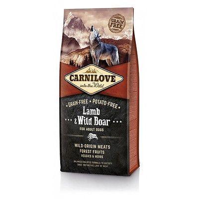 Croquettes CARNILOVE 38% de protéines agneau sanglier (lamb boar) chien adulte
