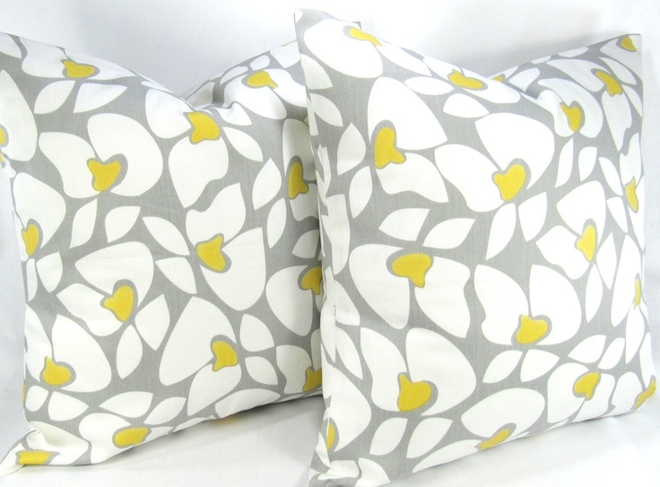 Yellow And Grey Throw Pillow Covers : 141 best ideas about HOUSE:- Yellow & Grey ft. Black & White on Pinterest Grey walls, Mint ...