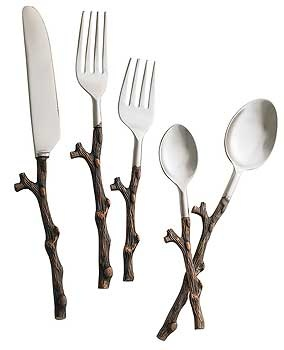 1000 images about designing with nature on pinterest trees log furniture and candle holders - Twig silverware ...