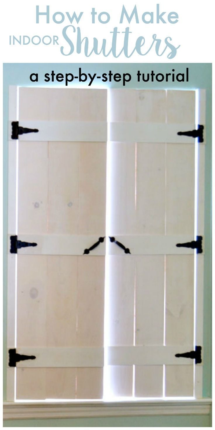 How To Make Wooden Shutters In Six Steps In 2020 Indoor