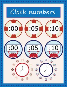Nautical clock number labels to help your students tell time. File includes 6 Jpg images (US letter, 300 dpi) each page contains 6 or 12 numbers. This product is a .ZIP file and the images are saved in jpg. E-mail any questions: thinkingcaterpillarstore@gmail.com
