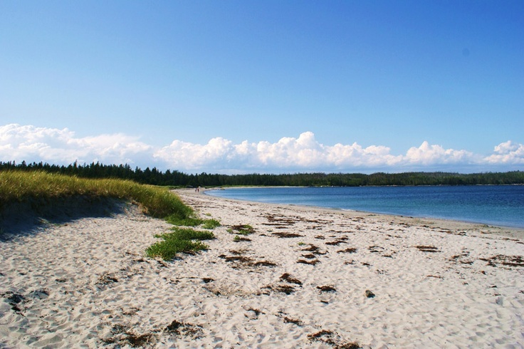 White sand beach, Taylor's Head, Nova Scotia.