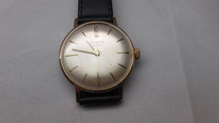 rare vintage like new old stock gub glashutte 36mm german made very nice caliber 71 with no date function these impossible to find watch by Bohemianwatchsource on Etsy